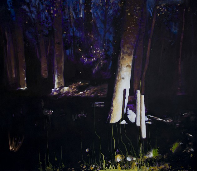 MATT HINDLEY, FOREST IN NOCTURNAL LIGHT 2015