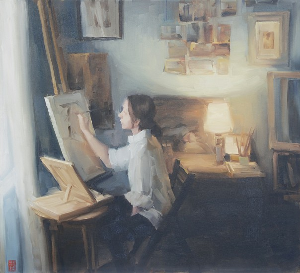 SASHA HARTSLIEF, A ROOM OF ONE'S OWN 2018, Oil on Canvas