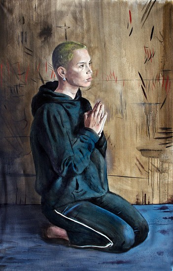 MATT HINDLEY, PRAYER (HANNAH) 2018, Oil on Canvas