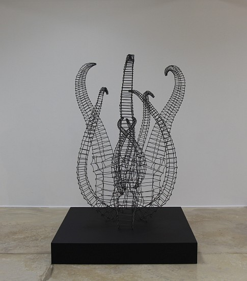 BETH DIANE ARMSTRONG, ONLY ONE LIVING 2016, 4MM GALVANISED WIRE
