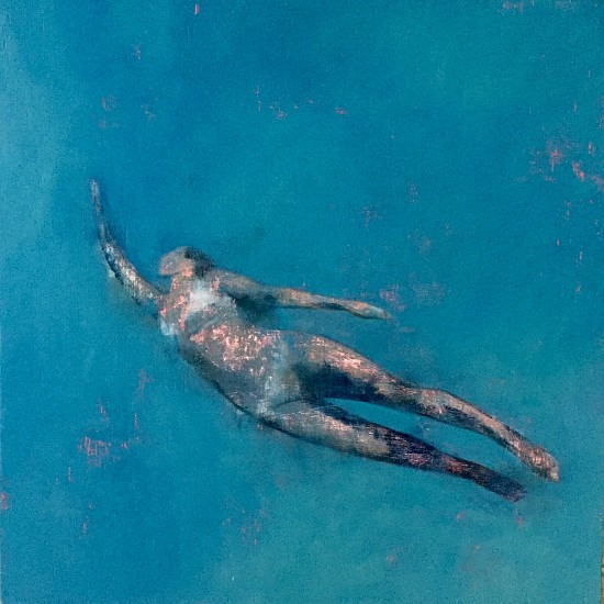 LOUISE MASON, BREATHING UNDER WATER 2018, Oil on Wood